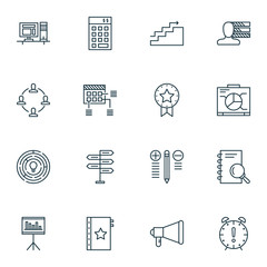 Set Of Project Management Icons On Decision Making, Planning, Research And More. Premium Quality EPS10 Vector Illustration For Mobile, App, UI Design.