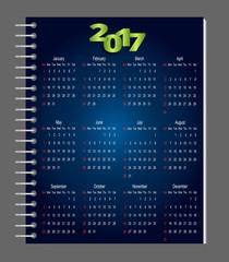 блокнот и календарь на 2017 год