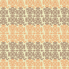 Ethnic Seamless Pattern in Tribal Style