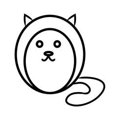 Round cat contour