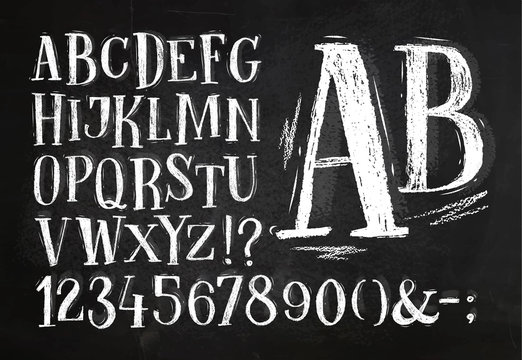 Pencil font alphabet
