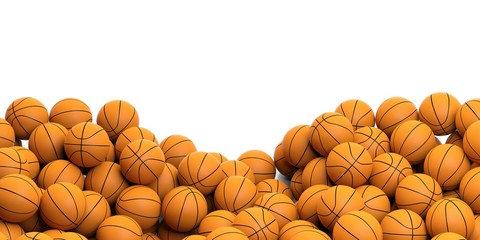 Basketballs background. 3d illustration
