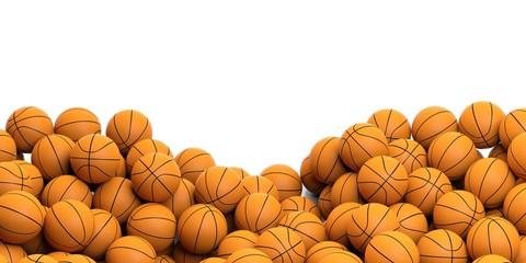 Basketballs background. 3d illustration
