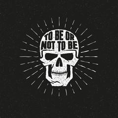 Skull lettering