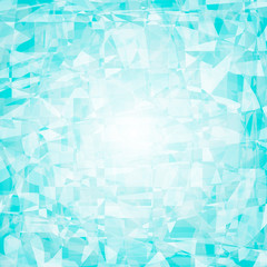 Crystal, ice, gemstone blue vector abstract background for logo or text.  Polygonal mosaic background illustration for creative business design templates