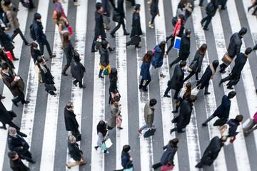 Fotomurales - Menschen auf dem Weg zur Arbeit
