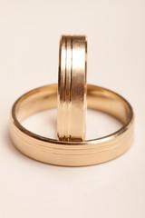 Wedding rings, isolated