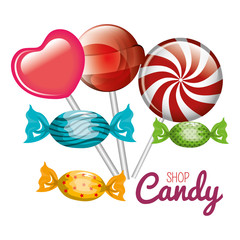 shop candy lollipop sweet graphic isolated vector illustration eps 10