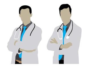 Doctor Man Silhouettes, art vector design