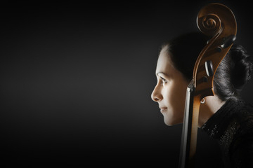Cello player woman cellist