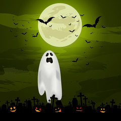 Fototapete - Halloween ghost background