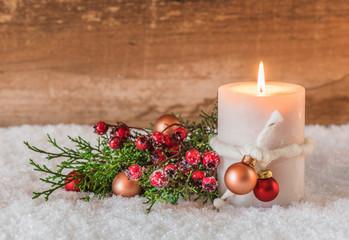 Grußkarte Weihnachten Postkarte Advent Kerzenlicht
