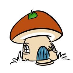 Mushroom House Fairy Tale Mushroom House Fairy Tale isolated image