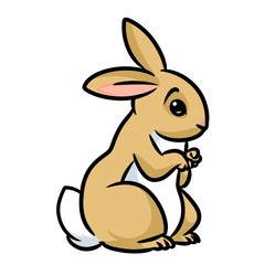 Rabbit brown cartoon illustration isolated image animal character