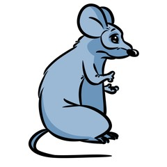 Mouse gray rodent cartoon illustration isolated image character