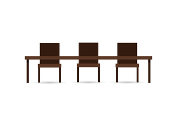 Table and chair Icon