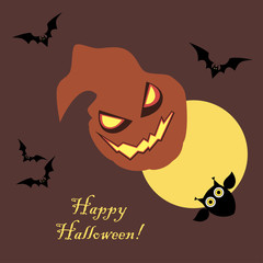 Poster Happy Halloween. Vector illustration.