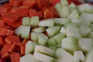 Papaya and melon
