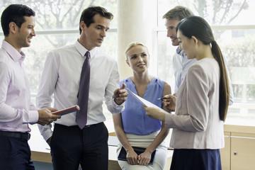 Business associates collaborating
