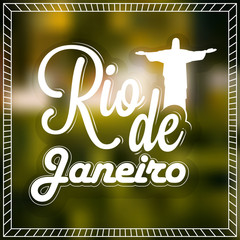 Poster, Banner with Stylish Text Rio de Janeiro.