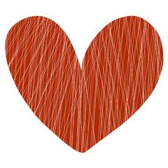 Red heart illustration on white background