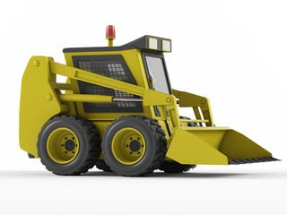 Skid steer isolated on a white background.
