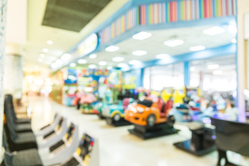 Abstract blur playground for kids and games center