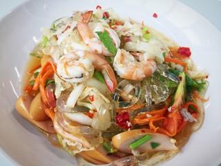 Mung Bean Noodle Spicy Salad (Yum Woon Sen)