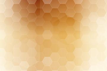 bronze color hexagon wallpaper. vector illustration for design.