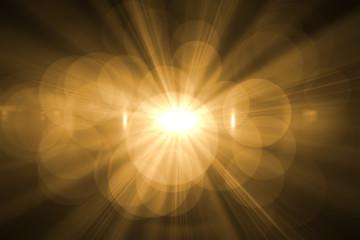 sun burst with flare Fototapete