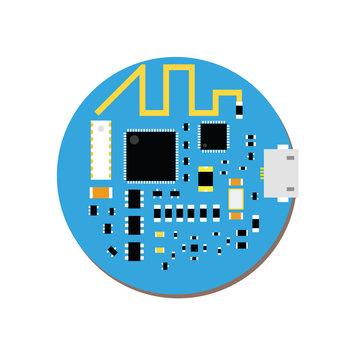 DIY electronic mini mcu and wifi board with a microcontroller