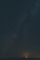 desert night and the starry sky