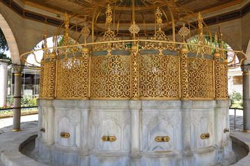Fountain for ritual ablutions of Hagia Sophia, Istambul, Turkey
