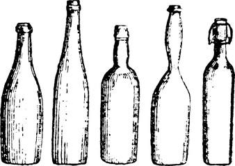 Vintage image bottles