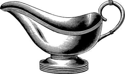 Vintage image gravy boat