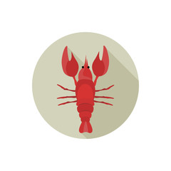 Lobster color flat icon