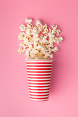 popcorn in paper cup