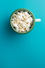 Popcorn in cup.