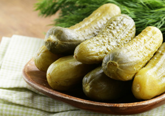 marinated pickles with herbs and spices