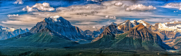 Canada Rocky Mountains Panorama landscape view Fotobehang