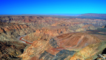 Foto op Plexiglas Canyon Fish river Canyon, south Namibia