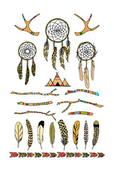 Hand drawn tribal elements