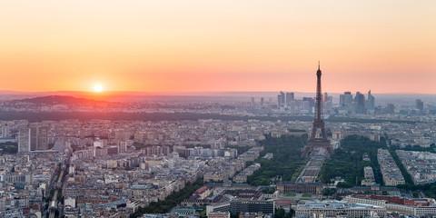 Coucher de soleil sur Paris.