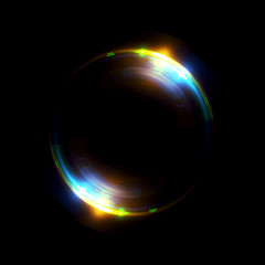 Abstract ring background with luminous swirling backdrop. Glowing spiral. The energy flow tunnel.