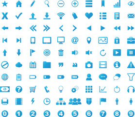 100 Icons Web Gradient Blue