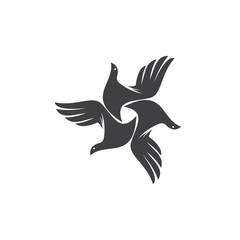 Hand Bird Illustration Logo Vector Image Icon