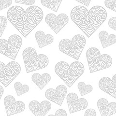 hearts pattern card background icon vector illustration design
