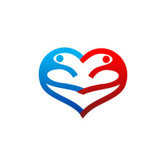 Love Life Heart Logo Vector Image Icon