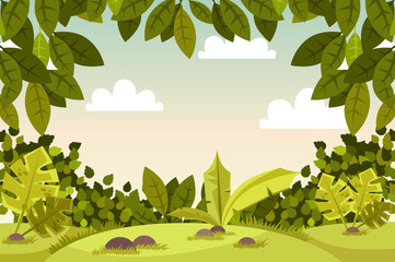 beautiful landscape. scenery. vector illustration