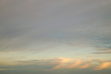 The cloudy sky at evening